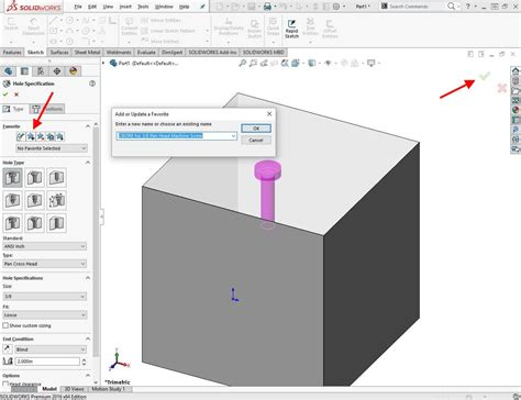 solidworks tutorial hole wizard how to create a solidworks hole wizard favorite