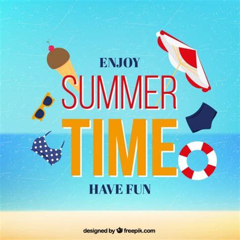Enjoy Summer enjoy summer time card vector premium