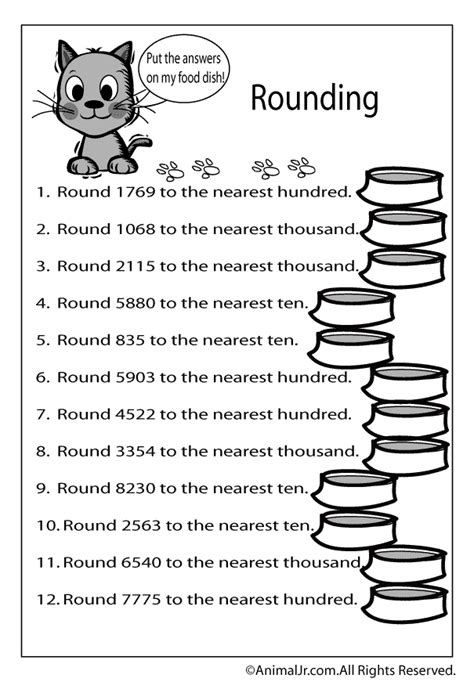 printable rounding numbers games math worksheet rounding numbers up to 4 digits woo jr