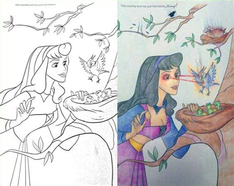 disney coloring pages gone wrong these 23 coloring book corruptions might destroy your