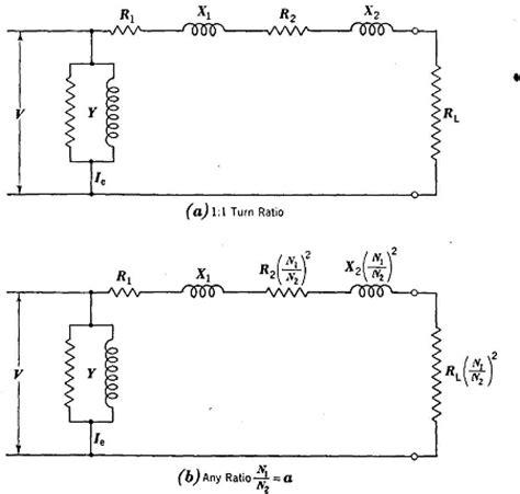 transformer resistor circuit the equivalent circuit of a transformer