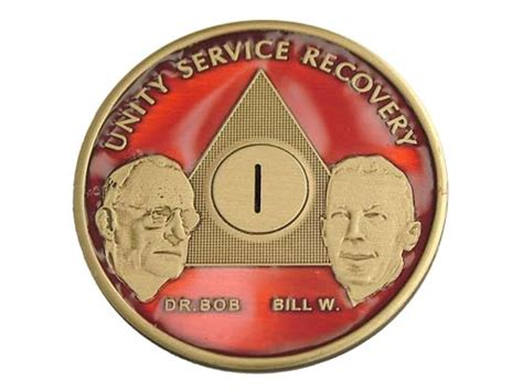 chip fmap red enameled aa birthday chips recovery medallions