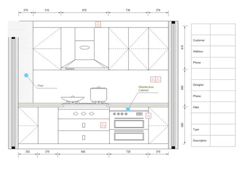 kitchen design diagram exles and templates