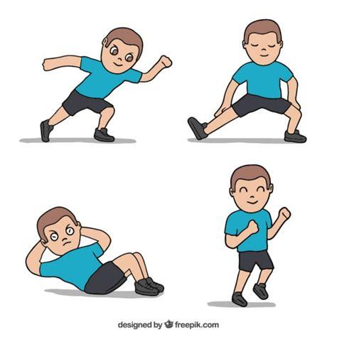 imagenes niños haciendo ejercicio fisico deportista haciendo ejercicio descargar vectores gratis