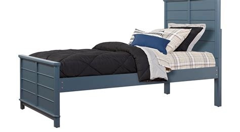 bed bay bay street blue 3 pc twin panel bed