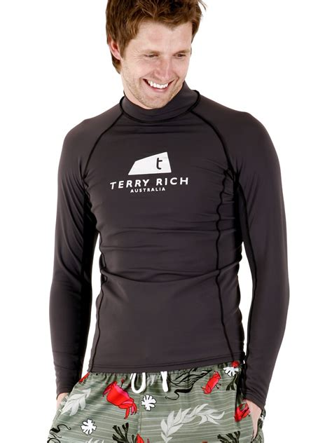 Tees With Vest mens uv rash vest swim shirt in charcoal order