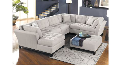 cindy crawford home decor 2 399 99 metropolis platinum 4 pc sectional living room