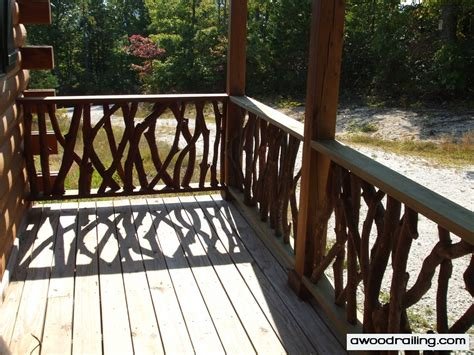 Front Porches With Railings by Log Cabin Railing Design Mountain Laurel Railing