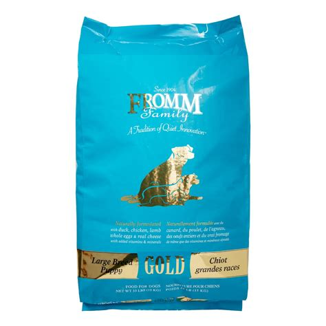 fromm large breed puppy fromm family gold duck chicken large breed puppy food 33 lb jet