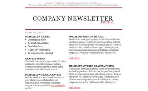 15 Free Html Newsletter Templates Flashuser Writing A Newsletter Template