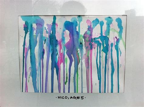 watercolor drip tutorial rainy day drip painting by nico watercolor exhibitions