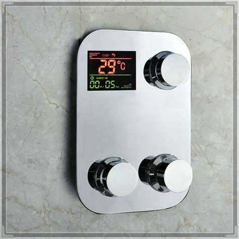 bathtub faucet temperature control digital thermostatic temperature sensitive 3 way shower