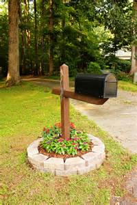 Landscape Mailbox Pictures The Handcrafted Simple But Mailbox Flower Bed
