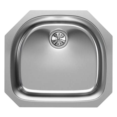 stainless steel single bowl kitchen sinks elkay elumina undermount stainless steel 24 in single bowl kitchen sink in satin eguh2118 the