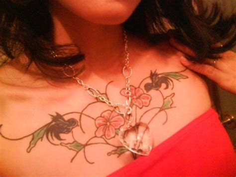 sexy chest tattoos hawaiian flower tattoos on chest for