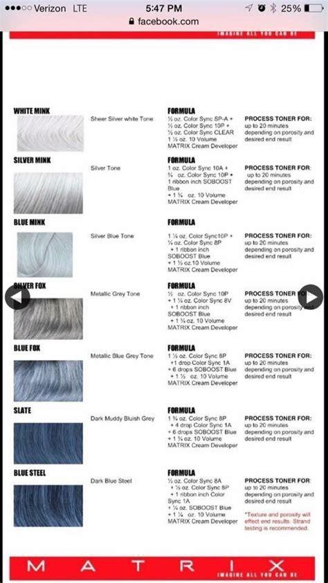silver hair color formula silver formulas hair nails matrix hair