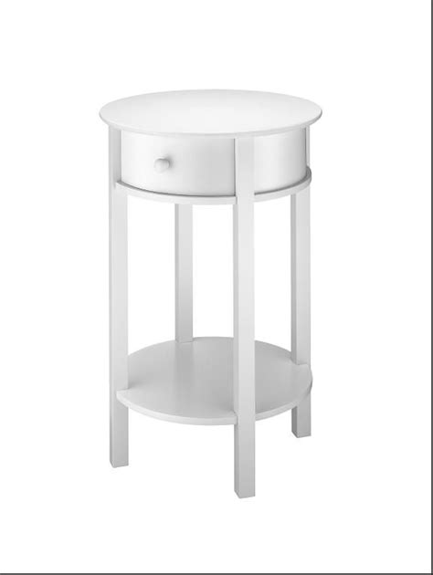 round white accent table essential home white accent table