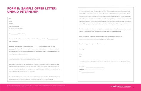 Offer Letter Without Signature Creativeinterns Start Guide