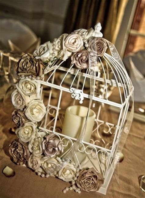 unique wedding idea birdcage centerpieces budget
