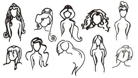 disney hairstyles drawing disney girls hairstyles collab with watrlily by