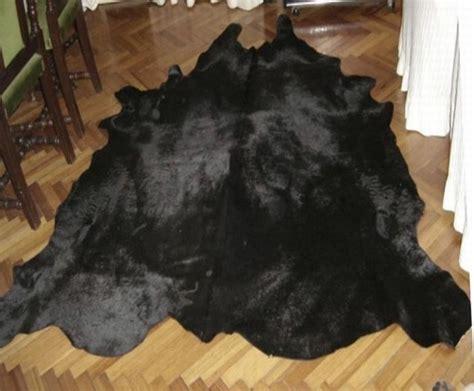 How To A Cowhide - dyed solid black cowhide rug all black cowhide rugs