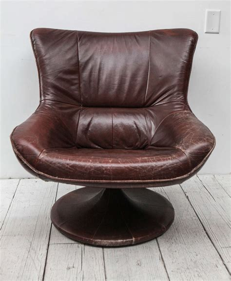 Den Chairs by Leather Gerard Den Berg Style Swivel Chair At 1stdibs