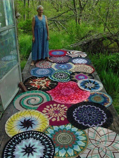 crochet mandala rug crocheted mandala rugs for the home