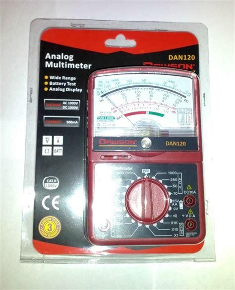 Multimeter Digital Dan Analog dawson analog multimeter ac dc voltage and current resistance measurement dan120 multimeters