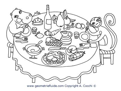tavola disegno a tavola cucina da colorare