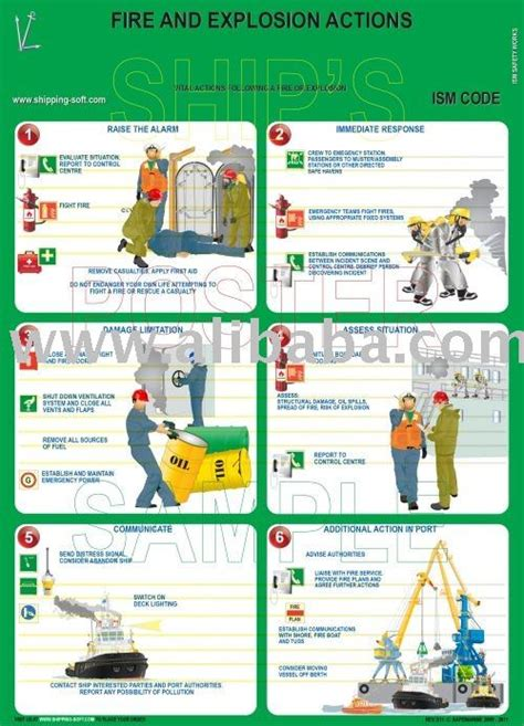 reddingsvest instructie fire and exposion actions ism poster buy shipboard
