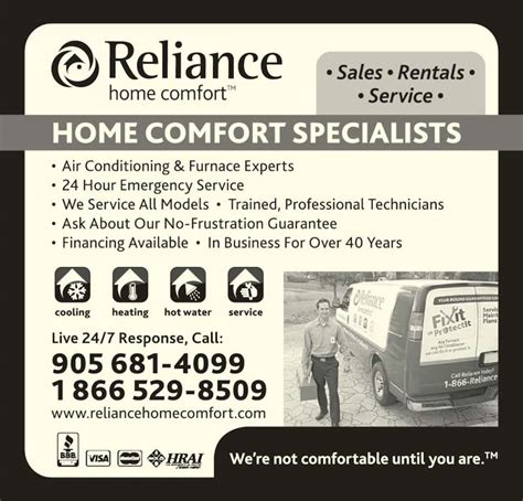 reliance home comfort canpages