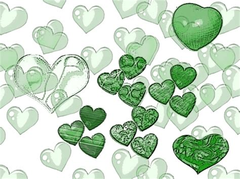 wallpaper green heart green hearts other abstract background wallpapers on