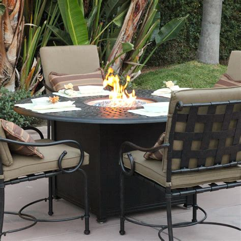patio set with pit table patio set with firepit table agio corseca 7 bar set with