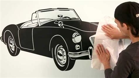 vehicle wall stickers retro car wall decal vehicle wall sticker vehicle decals