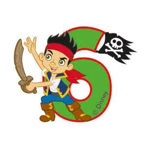 zahlenkerze 6 quot jake amp die nimmerland piraten quot 6 cm 252 nstig kaufen bei partydeko