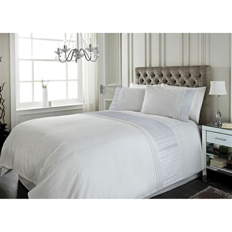 storehouse bedding sara metallic pleat panel king size duvet set bedding b m