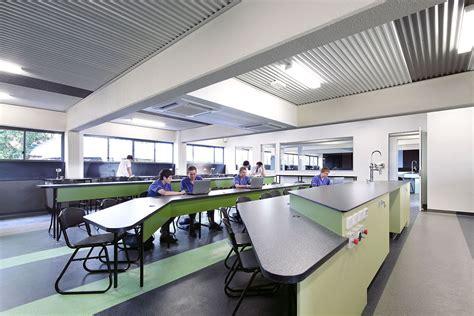 modern classroom furniture st edmund s college science block architecture