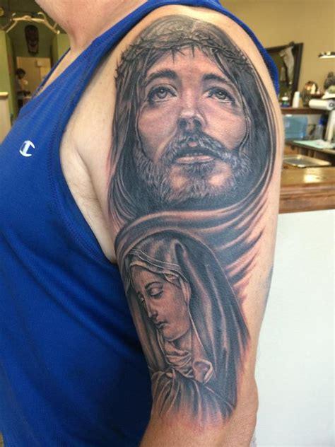 tattoo mary jesus jesus and mary by edward lott tattoonow
