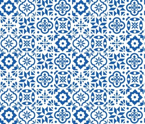 pattern a espanol spanish tile pattern larger size fabric by