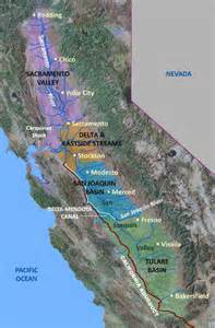 map of valley in california california s central valley usgs california water