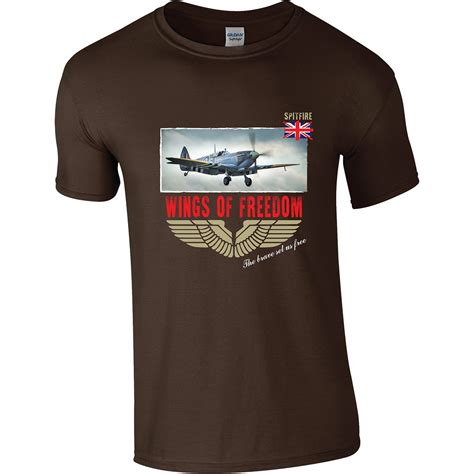 Tshirt Spitfire spitfires wings of freedom t shirt