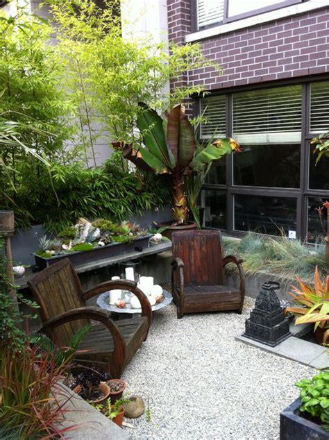 Tropical Patio Design Modern Tropical Courtyard Tropical Landscape Vancouver By Glenna Partridge Garden Design