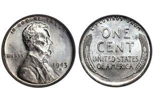 How Much Is A 1943 Silver Wheat Penny Worth 1943 steel silver penny background and value