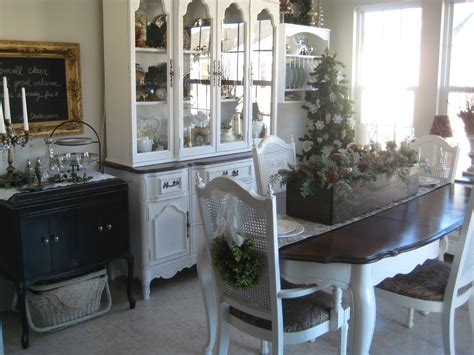 Painted Dining Room Furniture | a comfy little place of my own chair wreaths and the