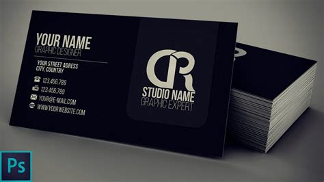 how to design business card design photoshop template modern black business cards theveliger