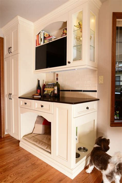 dog cabinet 15 diy dog bed ideas including this kitchen cabinet dog