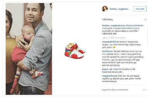 Harga Sepatu Gucci Laki Laki mengintip fashion mahal anak raffi ahmad dan nagita