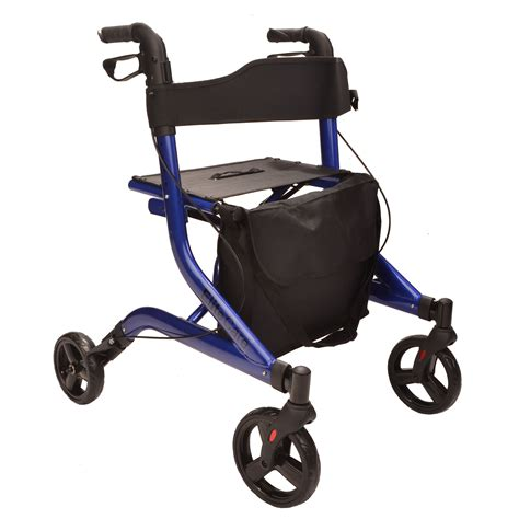 folding rollator walker with seat x fold lightweight folding 4 wheel rollator walking frame