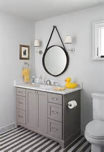 Kohler Double Sink by Yellow And Gray Bathroom Design Ideas