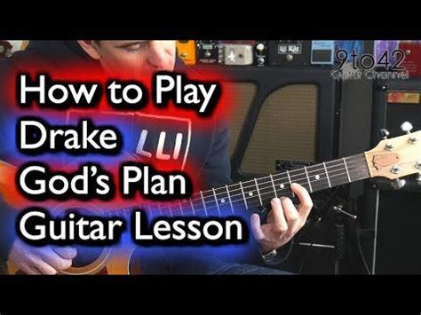 tutorial guitar dear god how to play drake god s plan on guitar tutorial youtube
